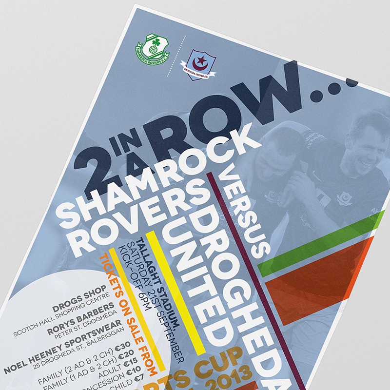 Drogheda United v Shamrock Rovers FAI Cup Poster