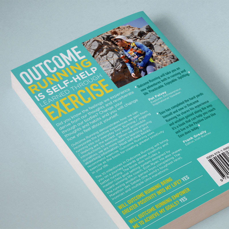 Outcome Running Book Back Cover Design