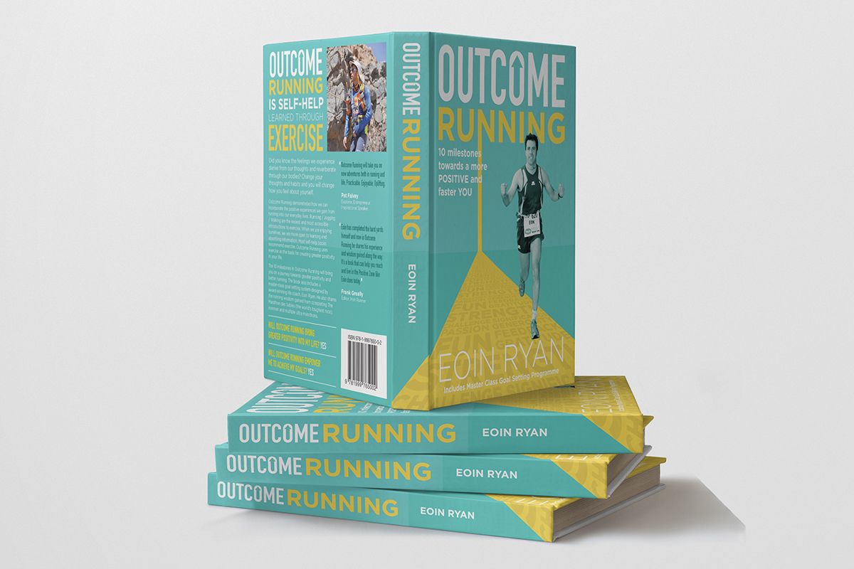 Outcome Running Book Cover Design