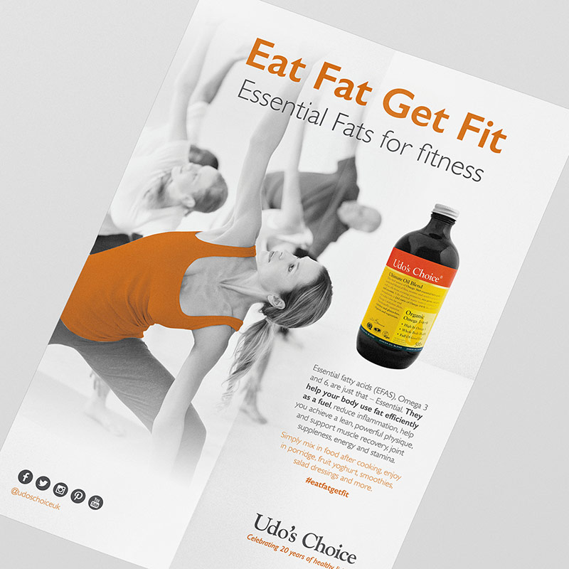 Udo's Choice - Udo's Oil Fitness Poster